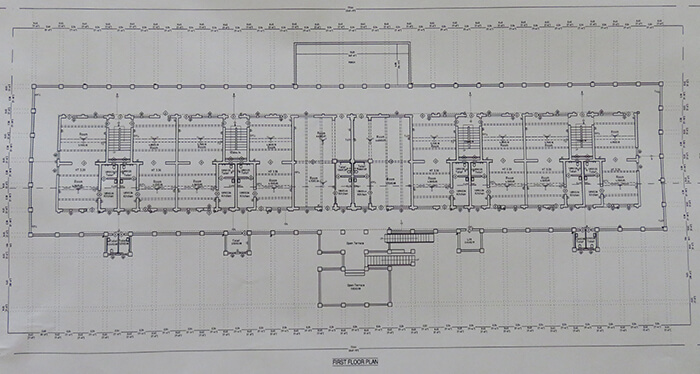 First floor plan of Leadbeater Chambers