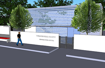 An impression of the new info centre made out of sea containers 2