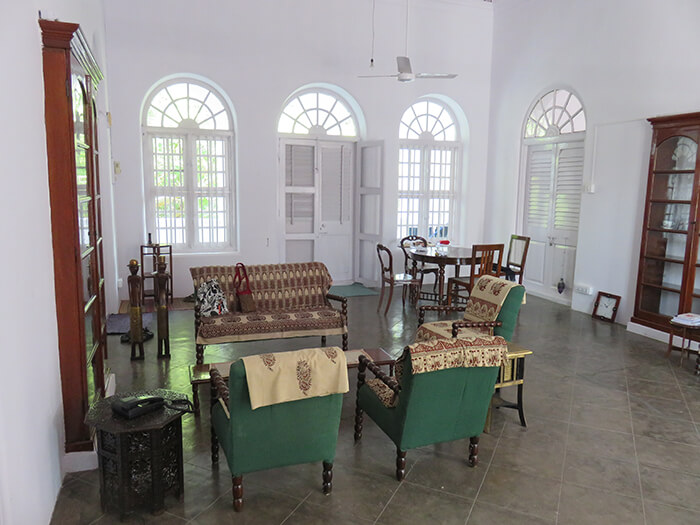 The renovated inside of Besant Bungalow, second floor